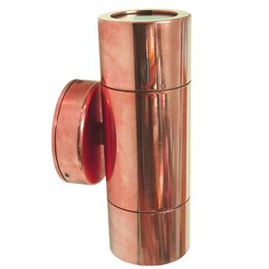 Smooth Pillar Light 240V Copper 2 x 35W