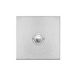 Push Button Switch 1 gang Satin Stainless Steel