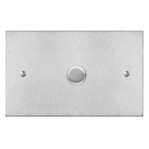 Dimmer Switch 1 gang 400 watt 2 way double plate Satin Stainless Steel