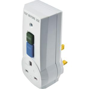 RCD Non-Latching Safety Breaker Adaptor White