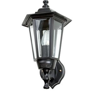 Lantern with PIR Motion Detector 240V Black 60W