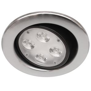 Contract Fire LED Adjustable 240V 4W Nickel