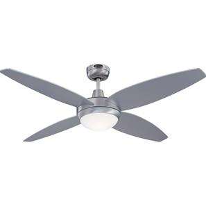 Havanna Ceiling Fan + Remote Control Brushed Aluminium with Silver/Graphite Blades 1320mm 100W