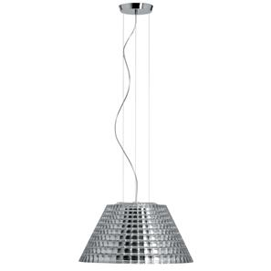 Flow Maxi Pendant 240V 150W Polished Chrome / Clear Glass