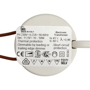 Electronic Dimmable Transformer 12V 50W