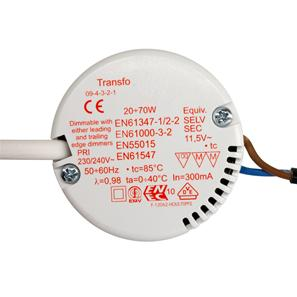 Electronic Dimmable Transformer 12V 70W