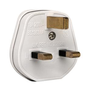 UK Mains Plug White 13A