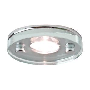Ice LED Round Polished Chrome / Glass 3500K Neutral White