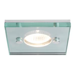 Ice Fire Square 12V 50W Polished Chrome / Glass