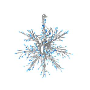 LED Outdoor/Indoor Snowflake 32 Blue White