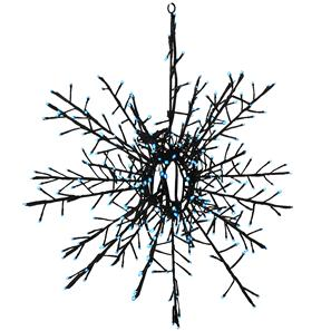 LED Outdoor/Indoor Snowflake 65   Blue Black