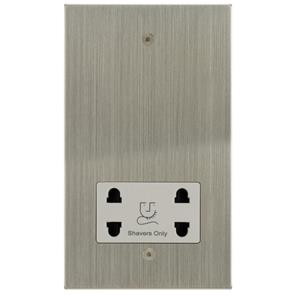 Shaver Point 1 gang shaver socket Satin Nickel