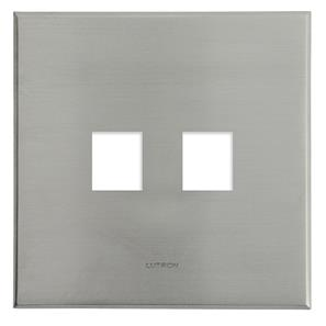 Complimentary 2 Port Frame Plate Nickel Frameless 2 Gang