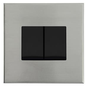 Complimentary Rocker Switch Nickel Frameless 2 Gang 2 Way