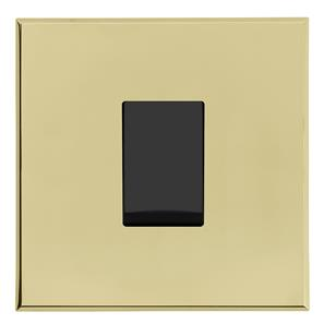Complimentary Rocker Switch Intermediate Brass Frameless 1 Gang