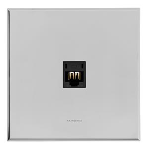Complimentary RJ11 Socket Chrome Frameless 1 Gang