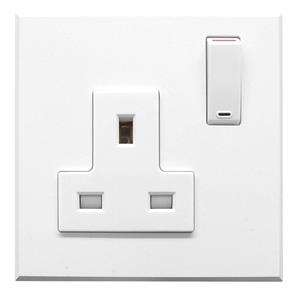 Complimentary Wall Socket White Frameless 1 Gang