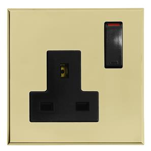 Complimentary Wall Socket Brass Frameless 1 Gang