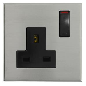 Complimentary Wall Socket Nickel Frameless 1 Gang