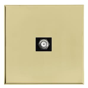 Complimentary Satellite Socket Brass Frameless 1 Gang
