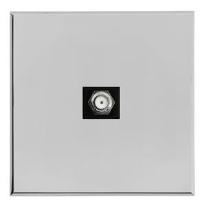 Complimentary Satellite Socket Chrome Frameless 1 Gang