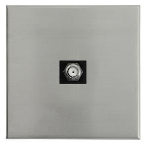 Complimentary Satellite Socket Nickel Frameless 1 Gang