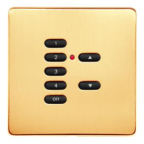 RAKO Wireless Wall Switch 7 Button Polished Brass Screwless