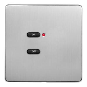 RAKO Wireless Wall Switch 2 Button Stainless Steel Screwless
