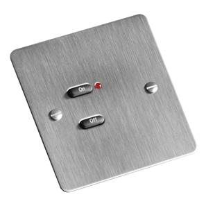 RAKO Face Plate 2 Button Stainless Steel