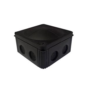 Waterproof Junction Box (85mm) 8 Way Black