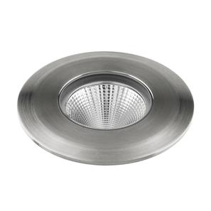 LED Recessed Uplight 240V 4W Stainless Steel 3000K Warm White