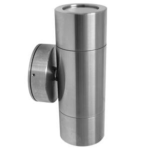 Smooth Pillar Light 240V Marine 316 Stainless Steel 2 x 35W