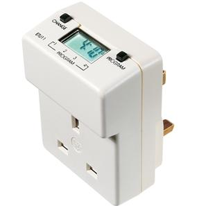 24 Hour Plug-In Electronic Time Switch White