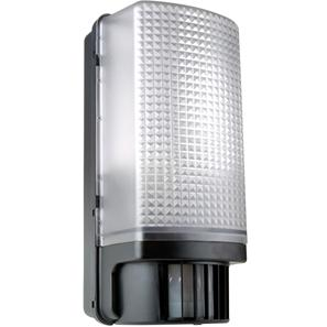 Bulkhead with PIR Motion Detector 240V Black 60W