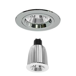 Contract 50 Reality LED Warm White (3000K) 7W (=75W) Chrome 45°