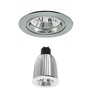 Contract 50 Reality LED Warm White (3000K) 7W (=75W) Nickel Satin 45°
