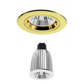 Contract 50 Reality LED Warm White (3000K) 7W (=75W) Brass 45°
