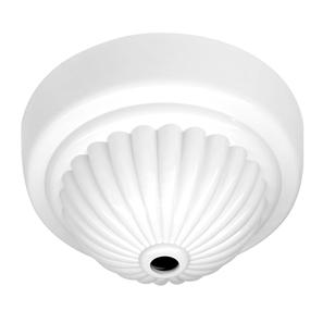Fluted Ceiling Rose White