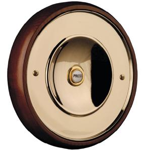 Wired Bell Push  Brass 165mm