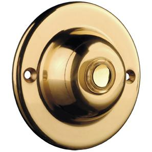 Wired Bell Push (Illuminated Button) Brass 63mm