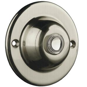 Wired Bell Push (Illuminated Button) Nickel 63mm