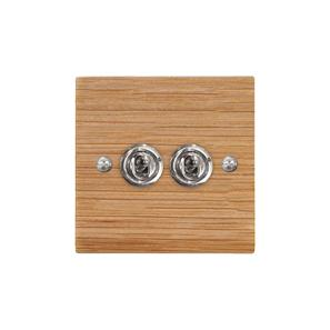 Dolly Switch 2 gang 2 way Oak