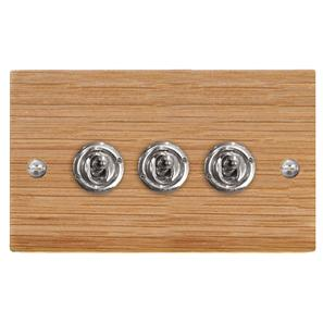 Dolly Switch 3 gang 2 way Oak