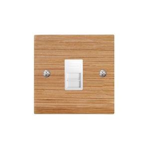 Communications Socket 1 gang telephone jackline master Oak