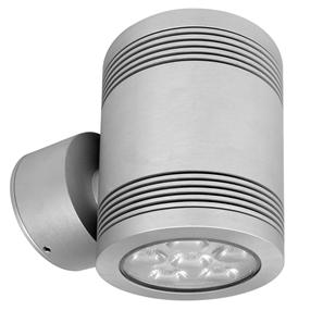 Battlestar 2.0 Up and Down Pillar Light 240V 12W Silver 3000K Warm White