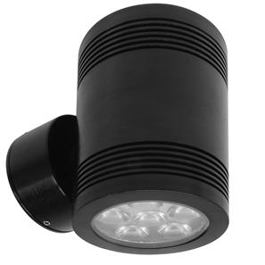 Battlestar 2.0 Up and Down Pillar Light 240V 12W Black 3000K Warm White