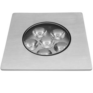 LED Square Recessed Uplight 30° 240V 6W Aluminium 3000K Warm White