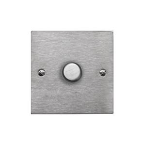 Dimmer Switch 1 gang 400 watt 2 way Satin Stainless