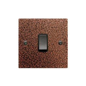 Rocker Switch 1 gang 10 amp 2 way Copper