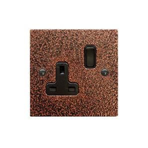 Wall Socket 1 gang 13 amp switch socket outlet Magnesium